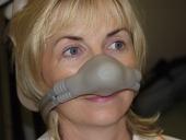 Gordon's nurse Maire wearing an RA mask