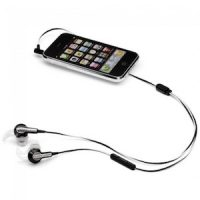 Mobile phone with headphones