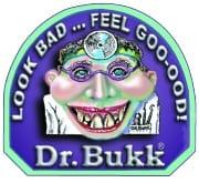 Dr. Bukk logo: look bad... feel goo-ood!