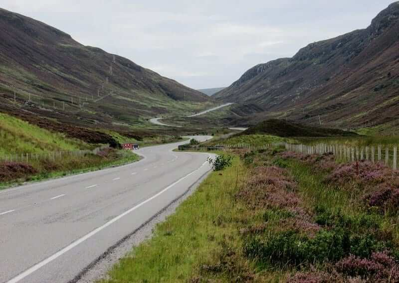 A road in the Scottish Highlands